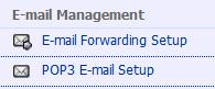 Email Management option